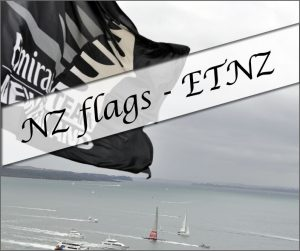New Zealand flags - Emirates Team NZ