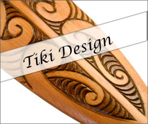 NZ wood carvings by Tiki Design