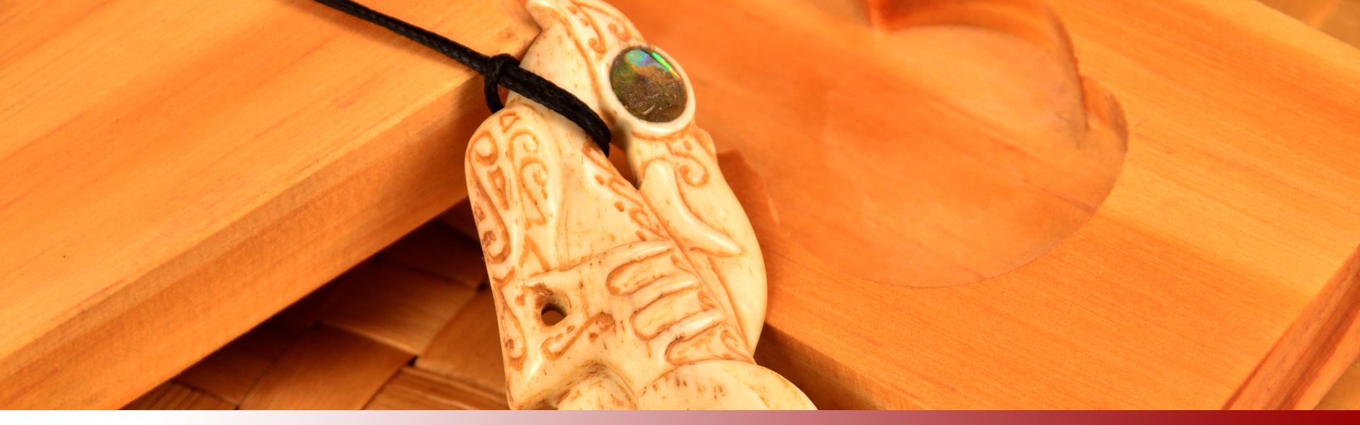 Taniwha bone carving