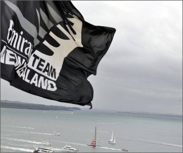 Official Emirates Team New Zealand flags