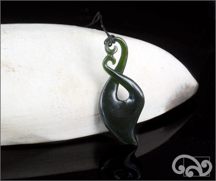 Greenstone twist pendant