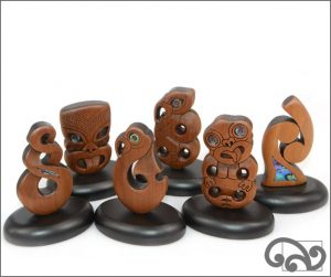Small carvings on a stand