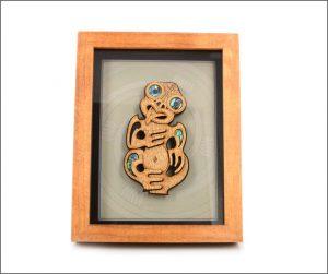 Framed Maori tiki