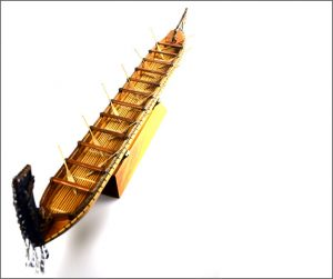 Large authentic Maori waka