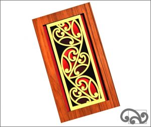 Contemporary Maori wall art heart