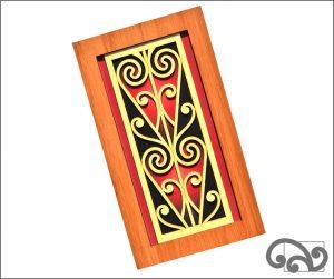 Contemporary Maori wall art scroll