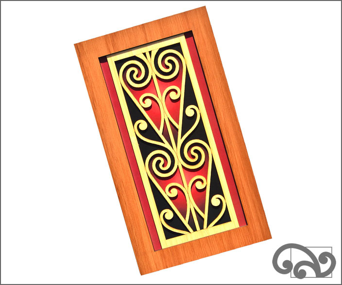 Contemporary Maori wall art scroll
