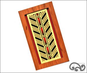 Contemporary Maori wall art rafter
