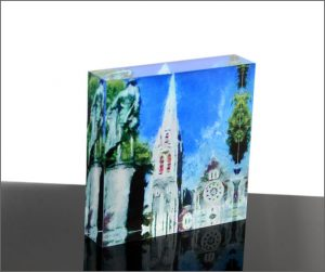 Acrylic photoblock Christchurch Cathedral