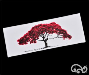 Pohutukawa pop art photo on canvas