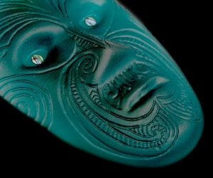 Maori glass mask
