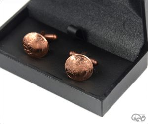 Coin cufflinks: One cent