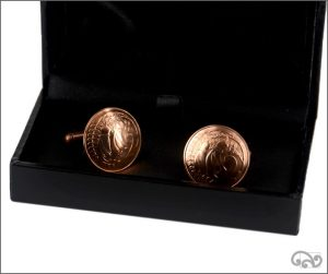 Cufflinks: two cent coins