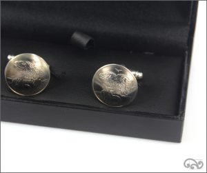 Coin cufflinks: Five cent
