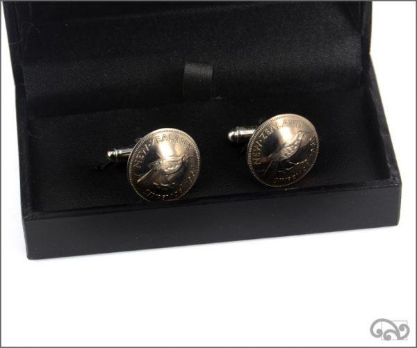 Sixpence coin cufflinks