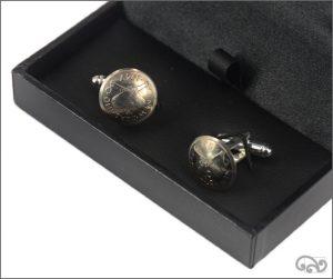 Coin cufflinks: Threepence