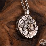 Steampunk silver dragonfly pendant
