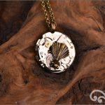 Steampunk mixed metal fantail pendant