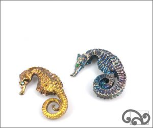 Seahorse brooch by Fronz