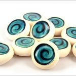 Ceramic koru pebbles