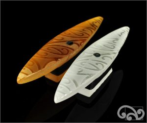 Small glass canoes