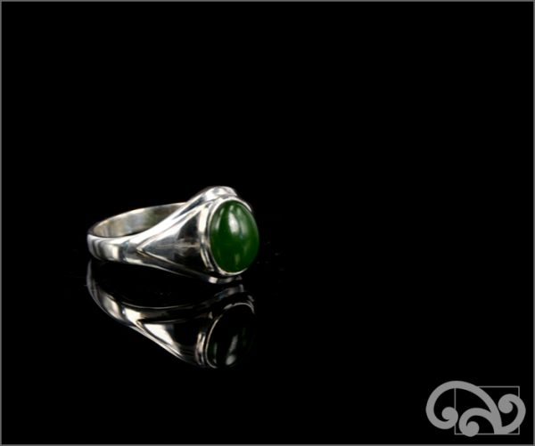 Silver ring with greenstone