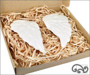 Ceramic angel wings