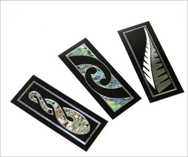 Paua bookmarks, pearl shell bookmarks
