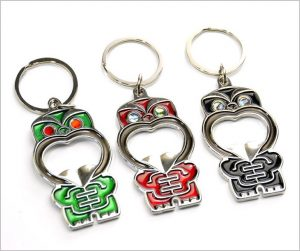 Tiki keyring bottle openers