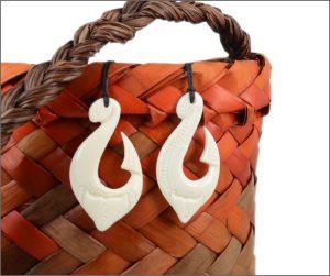 Maori fishhook bone carvings
