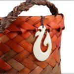 Maori fishhook bone carving