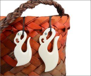 Large fishhook bone carvings