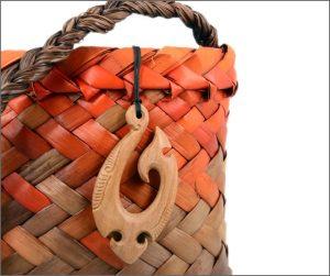 Hei matau fishhook wood pendants