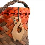 Manaia fishhook wood pendants