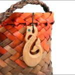 Tangaroa fishhook wood pendants