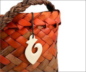 Maori fishhook bone pendant