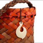 Maori hook bone carvings