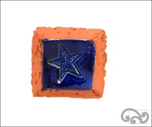 Starfish ceramic wall hanger
