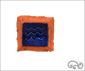 Waves ceramic wall hanger