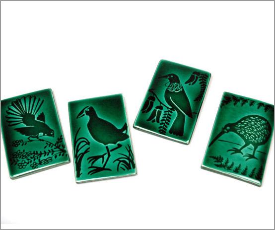 Ceramic bird tile. Tui