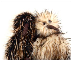 Kiwi hand puppets