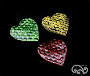 Woven kete ceramic hearts