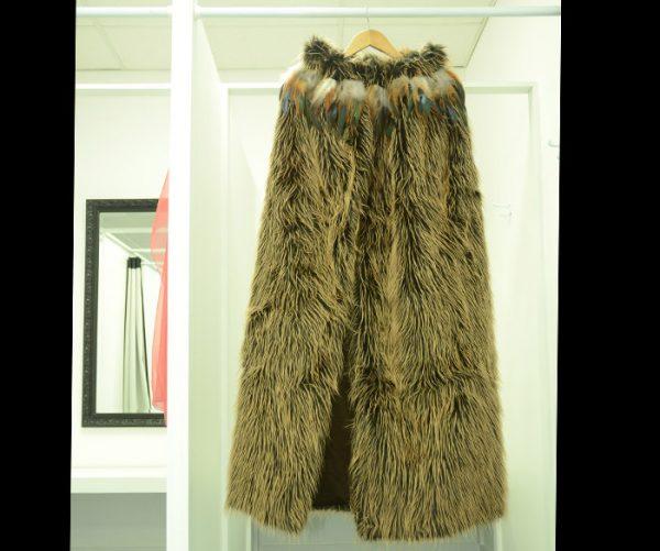 Maori korowai from faux-fur