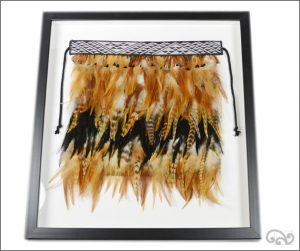 Framed Maori feather cloak