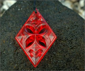 NZ resin tapa pendants