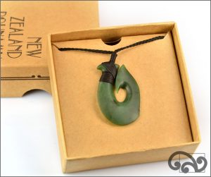 Authentic greenstone fishhook pendants