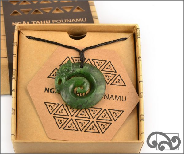 Authentic greenstone koropepe manaia pendant