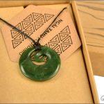 Medium authentic greenstone koru pendant