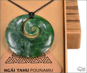 Large authentic greenstone koru pendant