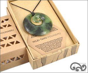 Large authentic greenstone koru pendant